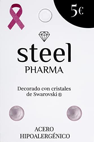 Pendientes de acero hipoalergénico con cristales de Swarovski mod. Lacquer Rose 5009