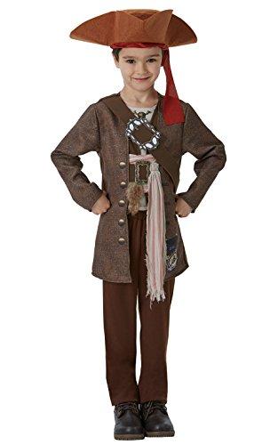 Piratas del Caribe - Disfraz de Jack Sparrow para niños, infantil 7-8 años (Rubie