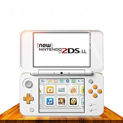 2 películas protetoras de tela transparentes de LCD na parte superior inferior da OSTENT para console Nintendo 2DS LL/XL