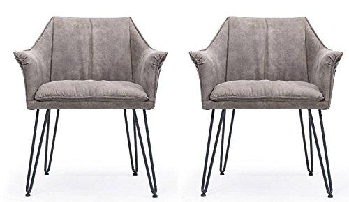 Modus Furniture International Silla de Comedor, Metal, Marrón rústico, 81H x 66B x 64T