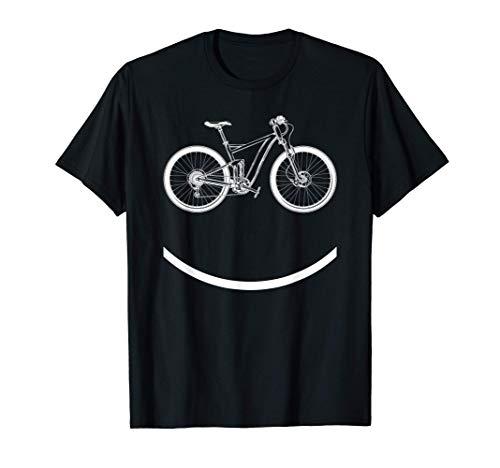 Bike Smiley Face Funny MTB Cycling Gift T-Shirt