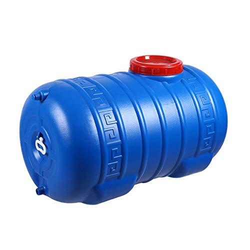 Aly Contenedor de bidón de Fluido Horizontal de plástico, Barril De Vino Barril Químico Industrial de 75/110 L, Cubo no tóxico, Prueba de Fugas (Azul)