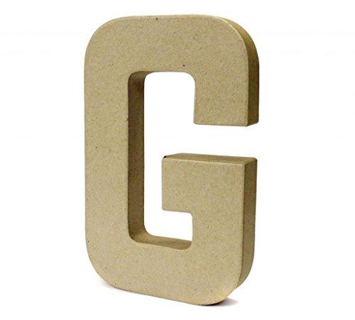 Papier Paper Mache Large Letters 20.5cm - Cardboard Craft (G)