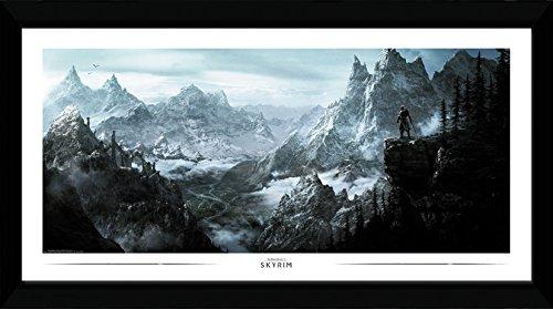 GB Eye Ltd Skyrim, Vista Kunstdruck, gerahmt, 50x 100cm, Holz, verschiedene, 55x 105x 1,8cm