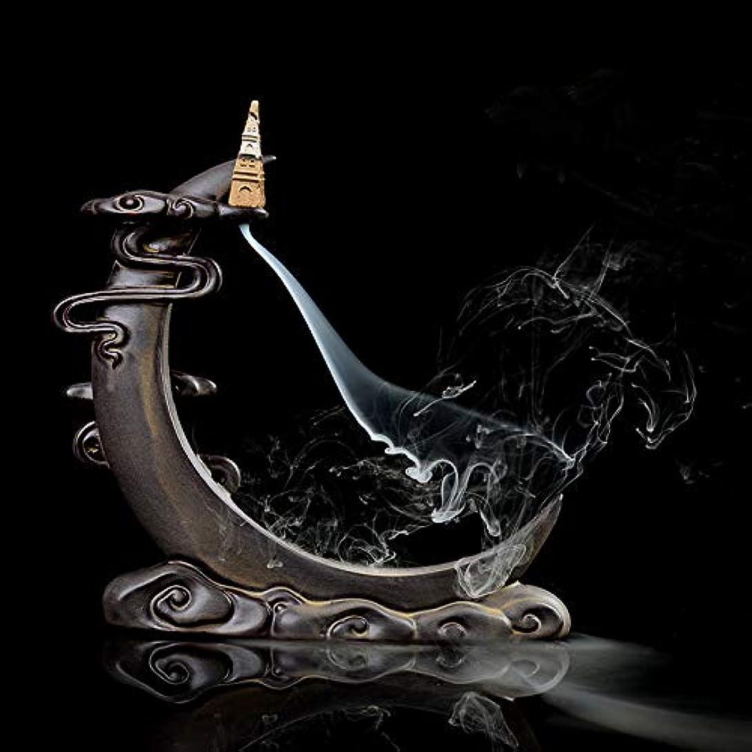博物館芝生視線PHILOGOD Incense Holders Ceramic Moon Styling Dual Use Sticks Backflow Burner/Censer