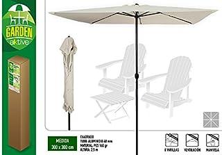 Aktive Garden 53875 Parasol Cuadrado con Mástil de Aluminio