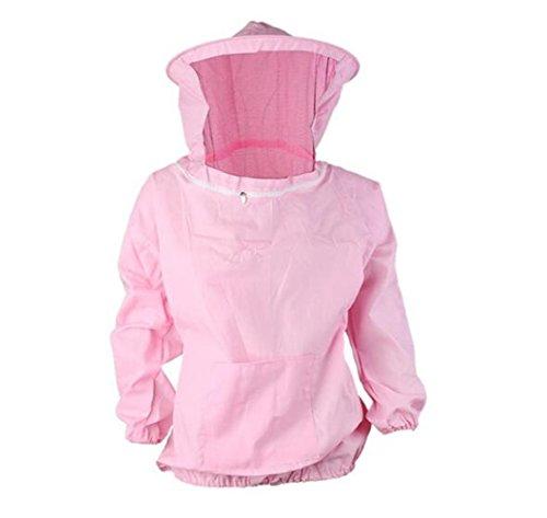 Bijenteelt Beschermende Jas Suit Met Trek Hoed Veil voor Professionele en Beginner Bijenhouders Zonder Broek roze