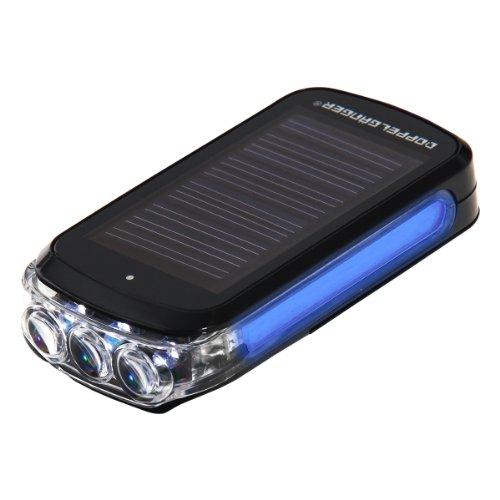 DOPPELGANGER インテリジェントハイブリッドソーラーLEDライト ニッケル水素電池内蔵 単4乾電池併用可 サイドブルーLED [連続点滅80時間] DL-09