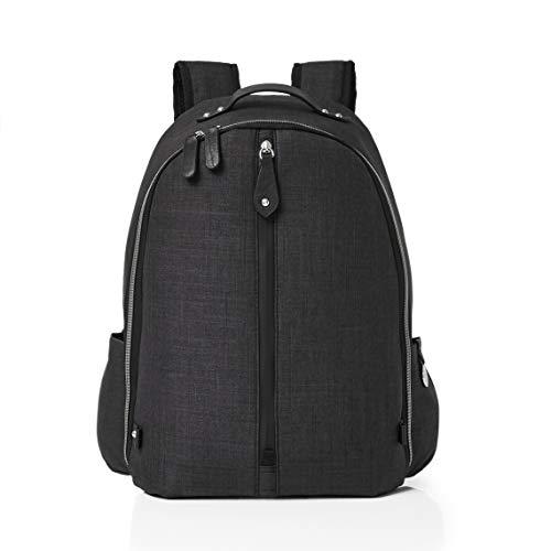 PacaPod Picos Pack Sac à dos pour bébé Sac à langer Unisexe Luxe Système d'organisation 3 en 1, charbon (Noir) - BB:0421