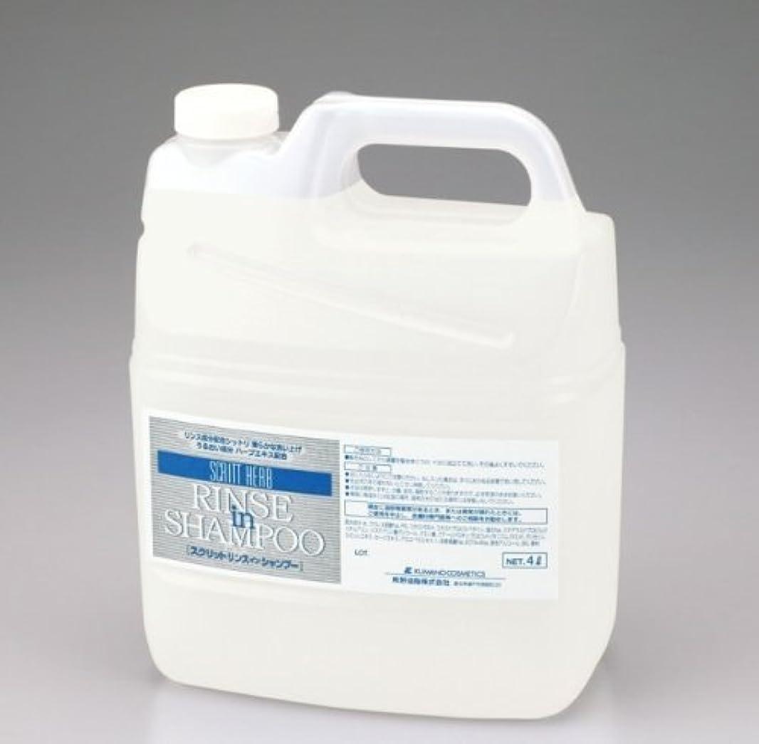 理想的抵抗力がある遺棄された熊野油脂 業務用 SCRITT(スクリット) リンスインシャンプー 4L