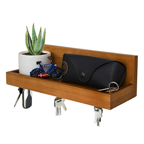 Magnetic Key Shelf with Ledge, Key Holder, Entryway Mail Wall Organizer, 12 in L x 4