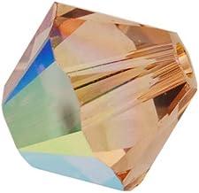 SWAROVSKI ELEMENTS Crystal #5328 5mm Bicone Beads Light Colorado Topaz AB (20)