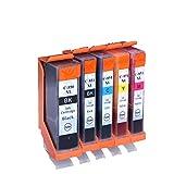 HGYB El Cartucho de Tinta Rellenado de Gran Capacidad de la Impresora es Adecuado para el Cartucho de Tinta Canon mg5680 mg5580 mg6380 Cartucho de Tinta IX6780-4-set