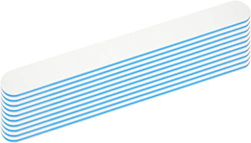 10x Profi Nagelfeile weiss gerade Form - Körnung 180/240 - Kern blau