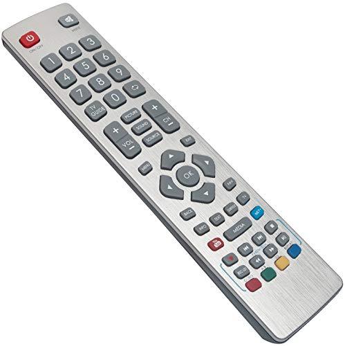 ALLIMITY SHW-RMC-0003 Fernbedienung Ersetzen für Sharp Aquos Smart TV LC-32CFE6241K LC-32CHE6131K LC-40CFE6241K LC-40CFE6352E LC-43CFE6131K LC-43CFE6352E LC-49CFE6031K LC-49CFE6242E