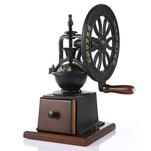 AZLMJXH Retro-Handschleifer, zu Hause Kaffeemühle, Gusseisen Maschine, große Rad-Mühle Schleifmaschine