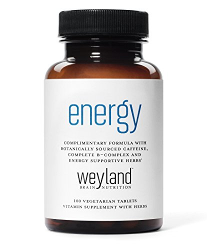 Each bottle of Weyland: Energy contains 100 vegetarian tablets (good for 50 servings). Our complementary formula combines botanically sourced caffeine (from Guarana Seed Extract), a complete B-Vitamin Complex, energy supportive herbs, and Alpha Lipoi...