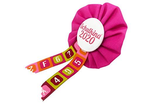 AnneSvea Orden Schulkind 2020 Set pink Einschulung mit Stundenplan und ABC Poster Schultüte Zuckertüte Deko Geschenk Mitbringsel