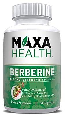 Berberine HCI 1200mg Per Serving - 60 Vegetarian & Vegan Friendly Capsules - Support Weight Loss, Blood Sugar, Cholesterol, Healthy Heart & Metabolism, Powerful AMPK Activator