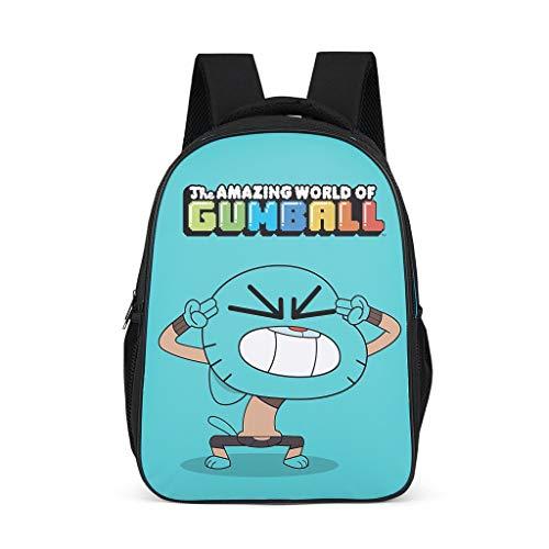The Amazing World of Gumball: Mochila escolar para niños y niñas  diseño de gato