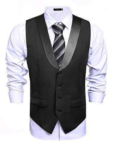 Coofandy Men's Suit Vest Slim Fit Casual Skinny Dress Waistcoat