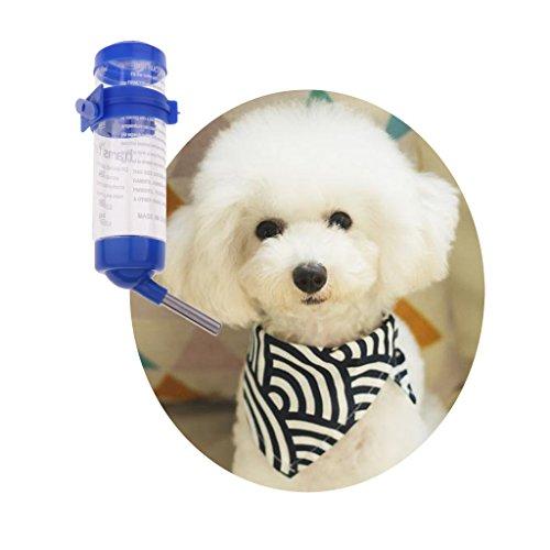 perfk Haustier Wasserflasche Automatische Trinkflasche Hängender Wasserspender für Hamster Ratten Meerschweinchen Frettchen Kaninchen (125ML) - 5