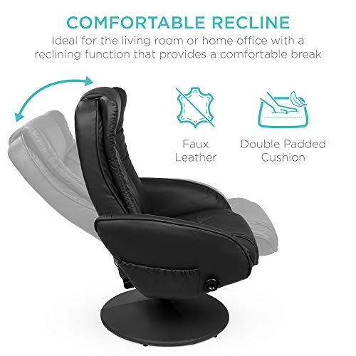 Mcombo Stressless Recliner with Ottoman Chair