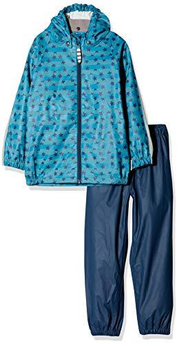 Racoon Jungen Victor Regenset 2teilig (Wassersäule 5000) Regenjacke, Mehrfarbig (Insignia Blue Ins), 128