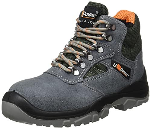 U POWER BC10315-39, BC10315-39-Calzado de seguridad gama Style&Job Modelo Real S1P SRC Talla Unisex-Adulto, Nero, 39 EU