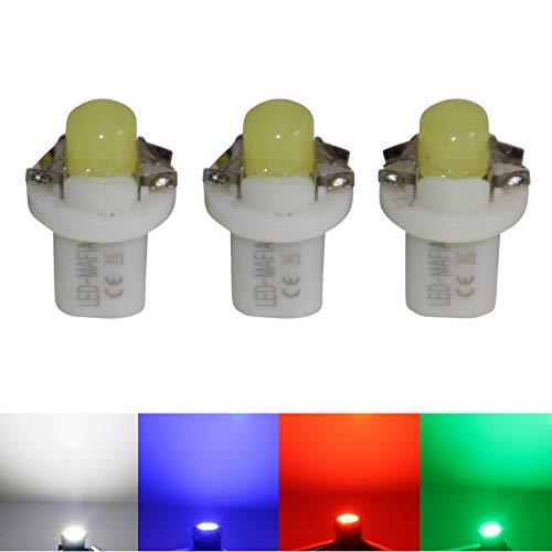 LED-Mafia Lot de 3 éclairages halogènes pour tableau de bord - Blanc, bleu, rouge, cockpit (bleu).