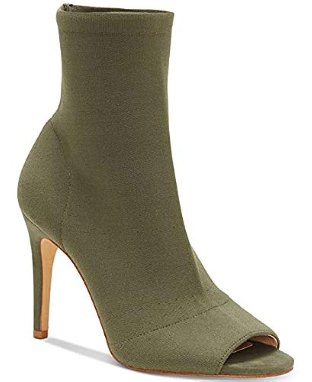 バリケード弁護人コンサート[INC International Concepts] Womens Rielee Fabric Open Toe Mid-Calf Fashion Boots [並行輸入品]