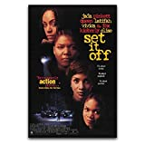 WPQL Set It Off Classic Retro Movie Póster de lienzo para decoración de dormitorio moderno de familia niño de 50 x 75 cm