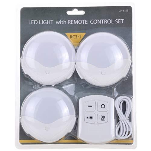 ZOYLINK Juego De Luces para Armario Control Remoto Inalámbrico Led Decorativo Sensor De Movimiento Brillante Luz para Gabinete Lámpara Luz De Escalera