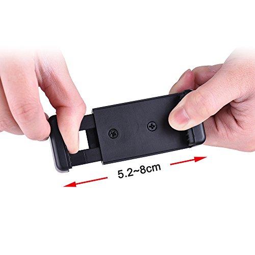 Andoer Verstellbare Handy Halterung Clip Halterung Halter Klemme mit 1/10,2cm Schraube Loch für Selfie Selbstauslser Einbeinstativ Stativ Kompatibel mit iPhone 76S 65S 5 Samsung Huawei Sony Smartphone