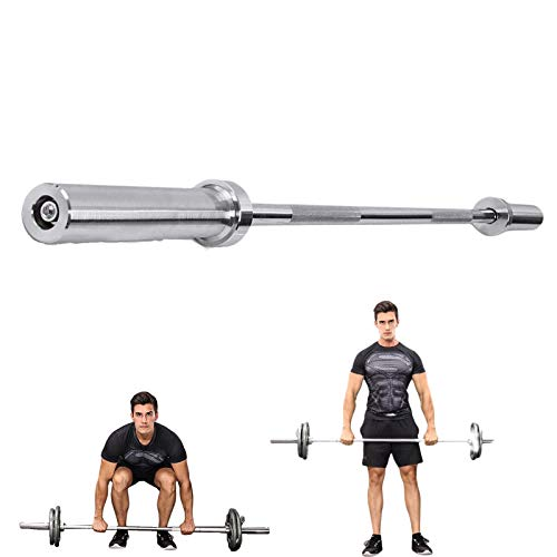 Hantelstange lang, Langhantel-Stange verchromt, Olympisch, zum Fitness, Muskelaufbau, Gewichtheben, Kniebeugen, Lange 120cm, 150cm, 180cm, endet 25mm und 50mm, 1pcOLYMPIC 5FT
