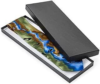 Animal Print & Black Embossed Jewelry Boxes -14x4-1/2x3/4 Black Embossed Boxes Tie Box (100 Boxes) - WRAPS-TIEB
