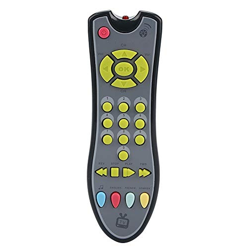 Juguete para teléfono celular para bebés, teléfono celular para niños, juguete de control remoto para bebés, sin rebabas, teléfono para bebés no tóxico, juguetes musicales para(gray)