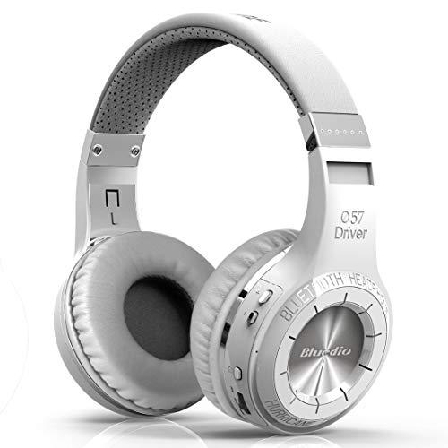 Bluedio H-Turbine - Auriculares de diadema cerrados con Bluetooth, color blanco