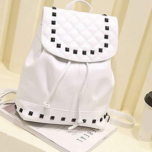 N/V Fashion Rivet Backpack PU Leather Backpack Rucksack School Bag Student Teenage Backpack Trendy Travel Bag For Women