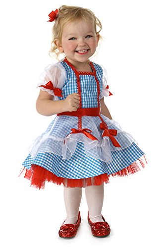 Princess Paradise Baby Girls' Deluxe The Wizard of Oz Dorothy Glitter Costume, As Shown, 6 to 12 Months