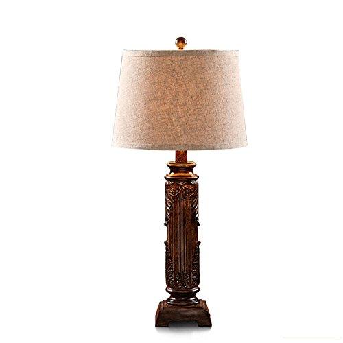 ZWL Lampe de table en résine en résine, lampe de nuit à la chambre à coucher Lampe de table décorative en sculpture Lampe de bureau en soie simple et moderne Luminaire de bureau E27 Lampes décoratives Cadeaux de vacances créatifs 36 * 77CM fashion.z ( taille : 36*77CM )