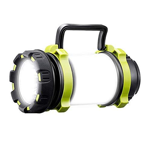 Lampe de Camping 4 Modes, Lanterne LED Rechargeable, Ultra Puissante 1000 Lumens, 4000mAh Batterie, Câble USB Inclus, IPX4 Étanche, Spot Pour Randonnée Ustellar