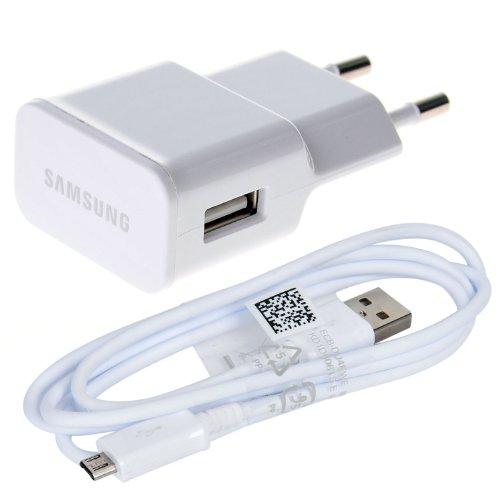 Samsung ETA-U90EWEGSTD + ECBDU4AWE- Alimentatore e cavo Micro USB (per ricarica e trasmissione dati) originali per I9505 Galaxy S4, 2 A, 2000 mAh in bulk pack