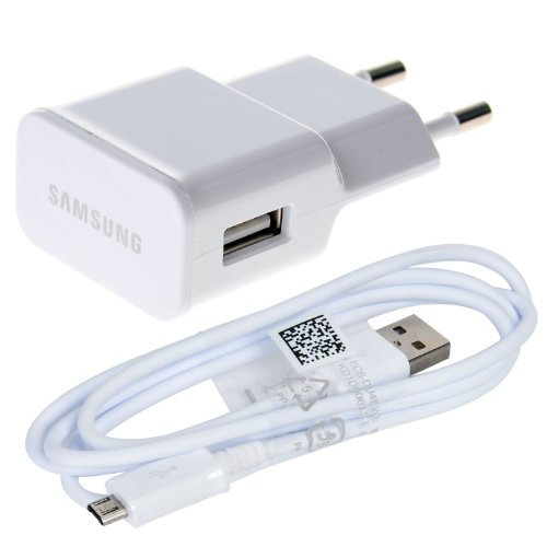 Originale Samsung Caricabatteria ETA-U90EW ( Alimentatore USB, Caricabatterie da Viaggio Europeo, Eu Plug AC 110V 240V a DC 5V 2A USB, Geniune, per Galaxy S4 I9500 Note 2 Ii N7100 Ipad)