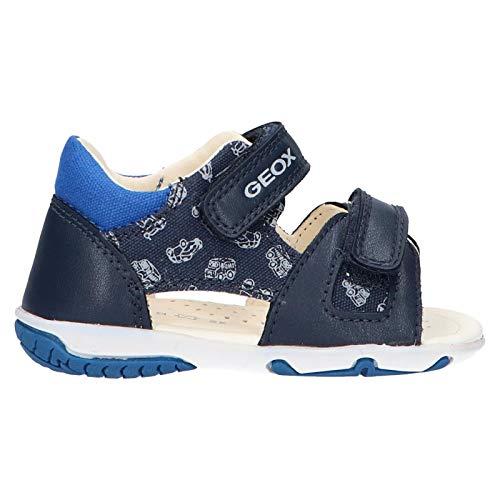 Zapatos Sandalias para niños GEOX B. S.Elba en Cuero Azul B02L8A-01054-C4226