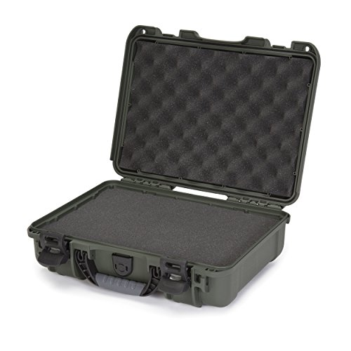 Nanuk 910 Professional Hand Gun/Pistol Case, Military Approved, Waterproof and Shockproof - Olive