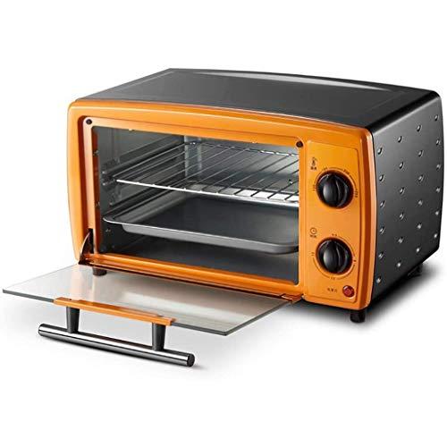SONGYU Mini tostadora de 12 l, la Mejor convección, Incluye Bandeja para Hornear, Parrilla, encimera, Tostadas de Acero Inoxidable Pulido, Mini hornos de Cocina para el hogar