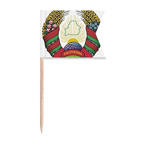 Minsk Belarus Nationalemblem Zahnstocher Flaggen Kennzeichnung für Party Kuchen Lebensmittel Käseplatte