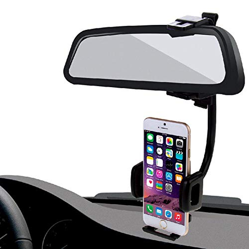 360 Degrees Car Rearview Mirror Mount Mobile Phone Holder Stand Cradle for Cell Phone GPS Car Accessories Auto Interior Parts-B