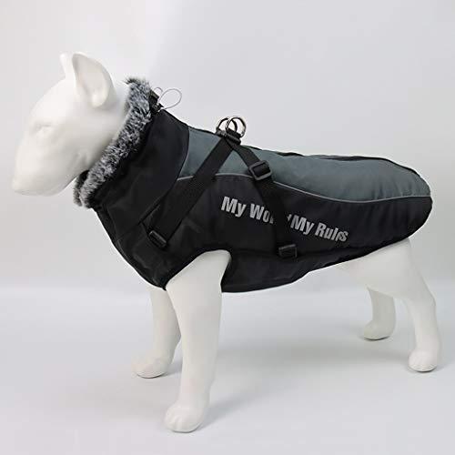 FEGOCLT Cuello de Chaqueta de Perro Grande de Invierno Ropa de Perros de Invierno para Mascotas Abrigo de Perro Grande Impermeable (Size : 4XL Code)